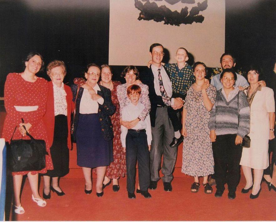 Con familia y amigos